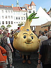 "The ""Little Onion"" – Zittau's mascot (AP)"